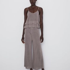 Zara NEW wide leg pants